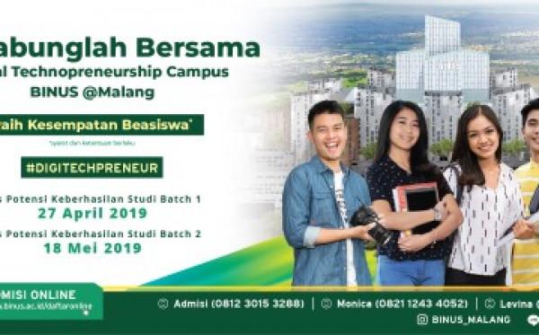 Bergabunglah Bersama Digital Technopreneurship Campus BINUS @ Malang