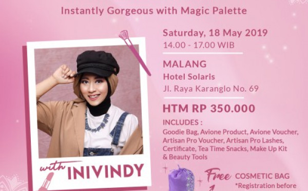 "Avione Beauty Class ""Instanly Gorgeous with Magic Palette"""