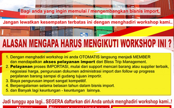 Workshop Import Barang dari China 2019