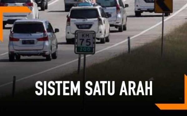 Jangan Pindah Jalur Sembarangan Saat Tol  Sistem Searah
