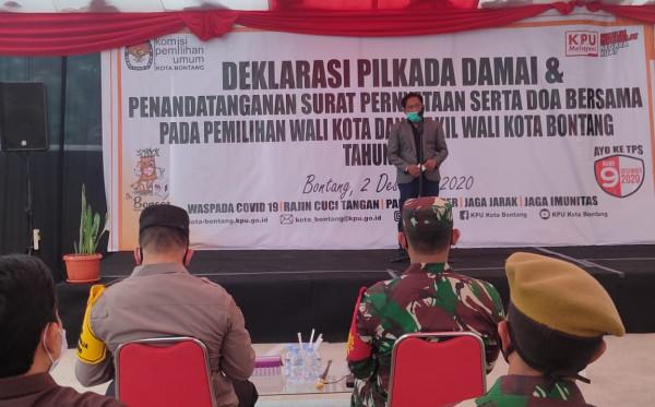 Gelar Deklarasi Damai, KPU Ajak Jaga Kondusifitas Pilkada Bontang