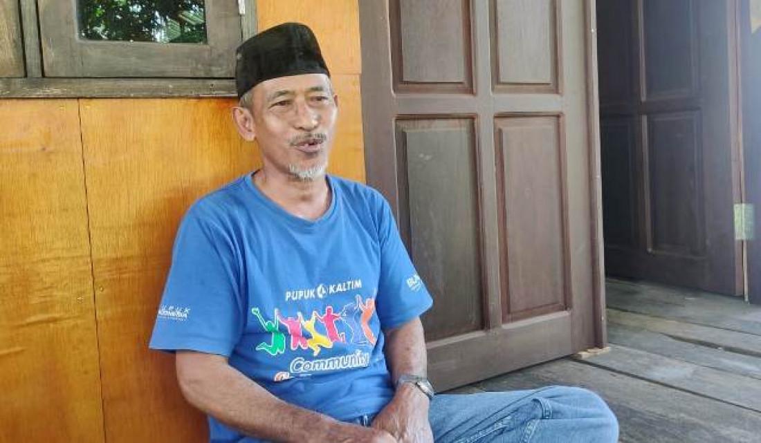 Ketua Dewan Adat Kutai di Guntung, Bontang, Hamid Badu'i. (Abdi/ Paradase.id)