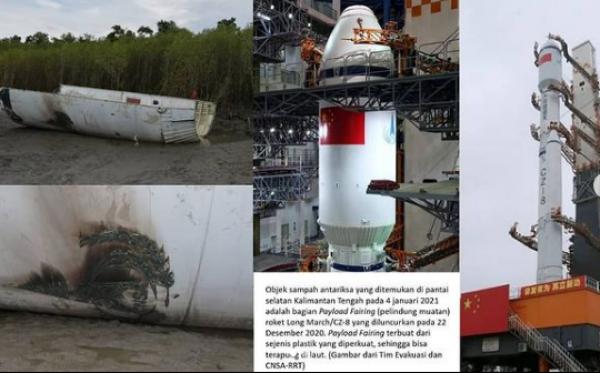 Lapan Temukan Sampah Antariksa di Pantai Kalimantan Tengah
