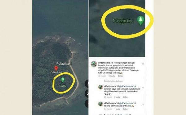 Tanda SOS di Pulau Laki Dikaitkan dengan Sriwijaya Air, Ini Penjelasan Basarnas