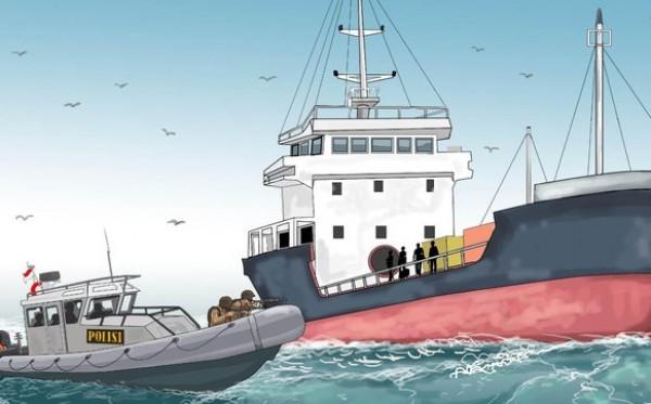 Curi Ikan, RI Tangkap 2 Kapal Ilegal Malaysia di Selat Malaka