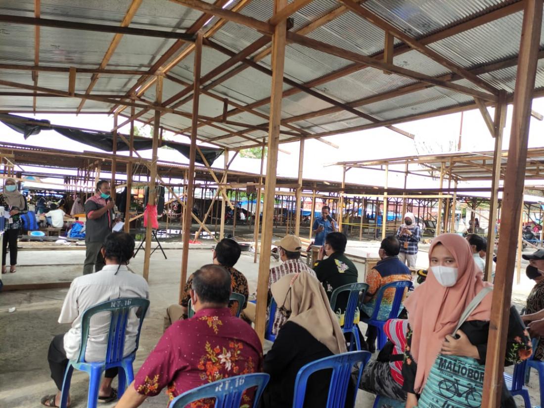 Diskop UKMP Apresiasi Bantuan Pembangunan Lapak Sementara Pasar Lok Tuan dari 12 Perusahaan