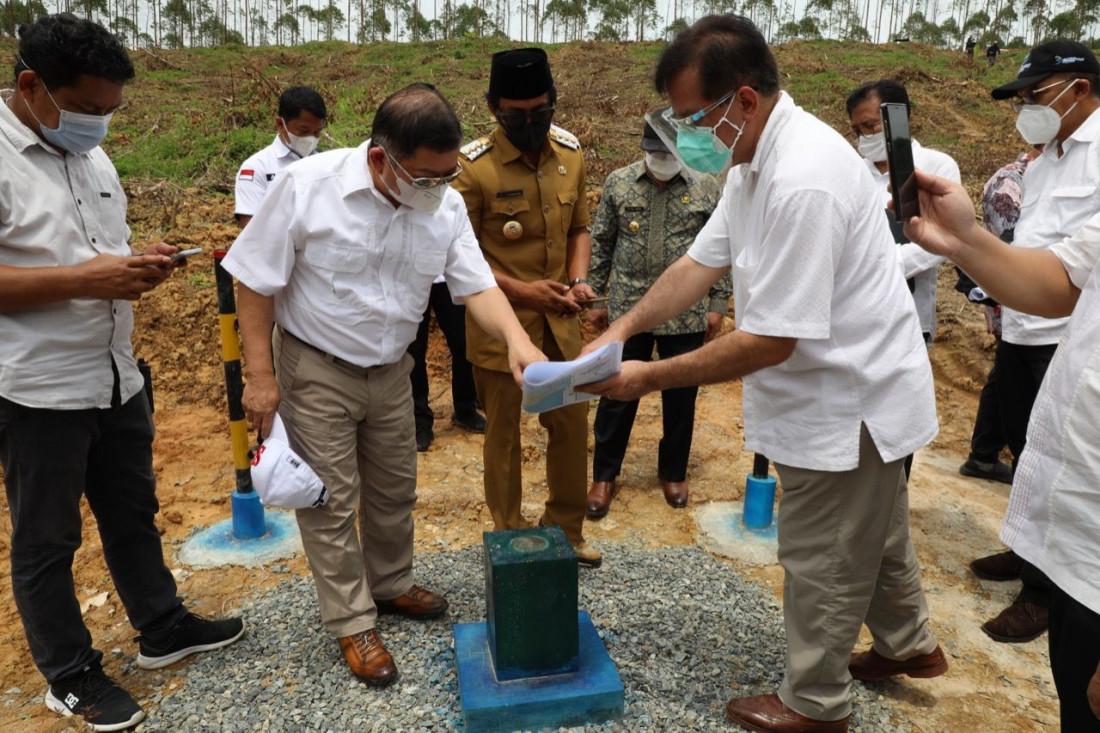 Menteri Bappenas Tinjau Titik Nol IKN di Kalimantan Timur