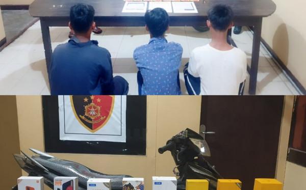 Nekat Curi Gawai di Toko, Tiga Pemuda Marang Kayu Diamankan Polisi