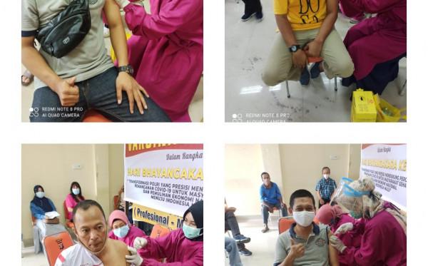 Peringati HUT Bhayangkara ke-75, Polres Bontang Gelar Vaksinasi  Driver