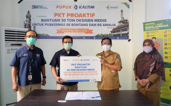 PKT Salurkan  30 Ton Oksigen Medis untuk Pasien Covid-19 di Bontang