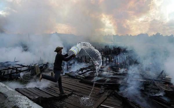 Gegara Pasutri Cekcok Puluhan Rumah di Palangka Raya Hangus Terbakar